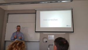 Peter verbindet persönliche Ziele mit OKR beim Barcamp Hannover