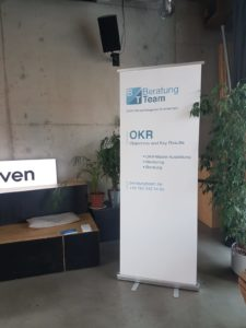 BeratungTeam mit OKR als Sponsor beim Barcamp