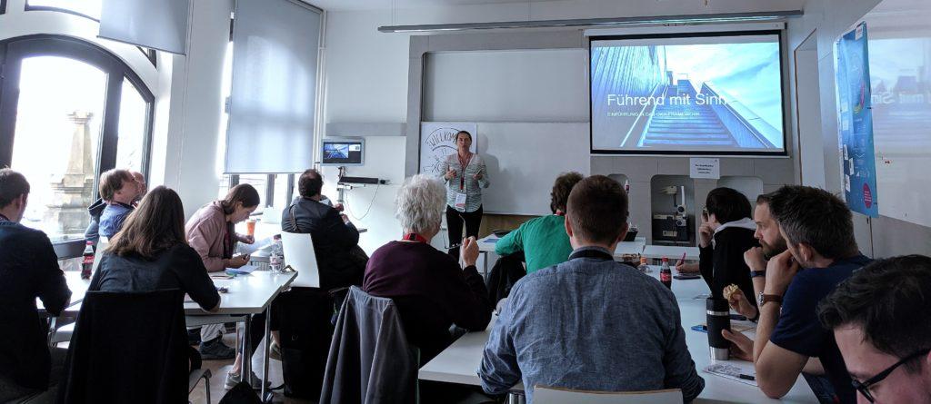 Iryna redet über OKR beim Barcamp Hannover